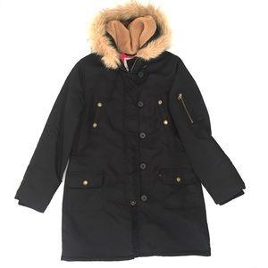 Old Navy Parka Coat Faux Fur Hood Warm Jacket L